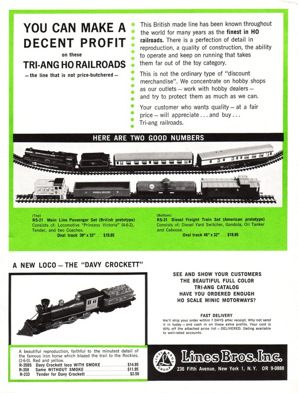 Tri-ang USA - Tri-ang Railways in Canada and the USA